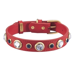 Diamond Collar & Leash - Red