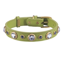 Diamond Collar & Leash - Green
