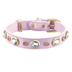 Diamond Collar & Leash - Light Pink