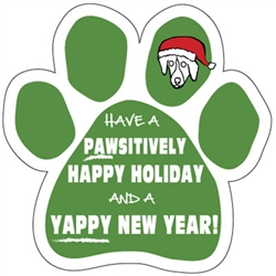 Pawsitively Happy Holiday and a Yappy New Year Paw Magnet