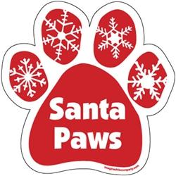 Santa Paws Paw Magnet