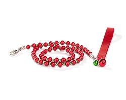 Fabuleash Beaded Dog Leash - Holiday FabuLeash™ - LumiBead Leash - Red & Green