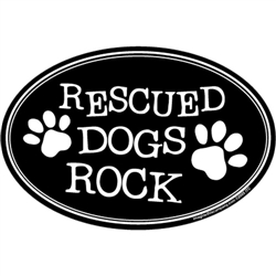 Rescued Dogs Rock Oval Magnets