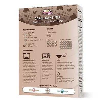 Puppy Cake Mix and Frosting - Carob Flavored for Birthday + More