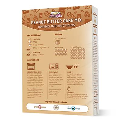 Puppy Cake Mix and Frosting - Peanut Butter (Wheat-Free) for Birthday + More