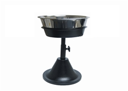 Barstool Single Adjustable Raised Feeder Diner Includes Stainless Bowl