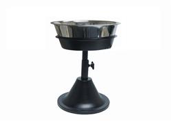 Barstool Single Adjustable Raised Feeder Diner Includes Stainless Bowl