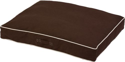 Rectangular Repelz-It Canvas Dog Beds w/Ecru Piping
