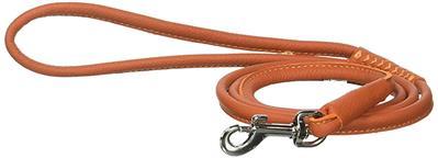 Dogline Soft Leather Round Lead