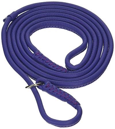 Dogline Soft Leather Round Slip Lead