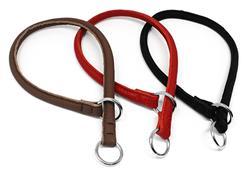 Dogline Soft Leather Round Slip (Choke) Collar