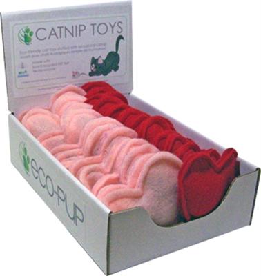 Wool Felt Catnip Toys (Hearts)