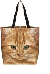 Orange Tabby Cat Cotton Canvas Tote