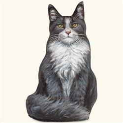 Blue Maine Coon Cat Doorstop