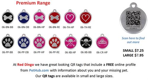 The Red Dingo Premium QR Tags - Large