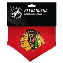 Chicago Blackhawks Cotton Dog Bandana