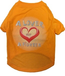 """""""Lover Not A Fighter"""" Dog Tee"""
