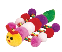 "8"" Caterpillar Plush Toy w/Rope (00031)"