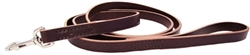 Training Leashes - Leather - Burgundy & Black