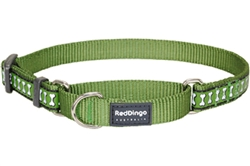 Green Reflective Bone - Martingale Collar