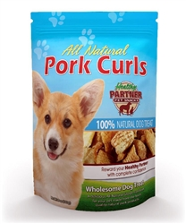 Pork Curls 3 oz Bag - All Natural