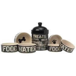 Vintage Stoneware Dog Bowls
