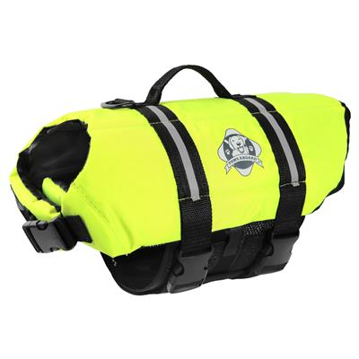 Paws Aboard Dog Life Jacket - NEON YELLOW