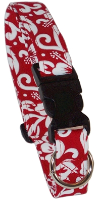Newport Red Beach Dog Collars and Leashes