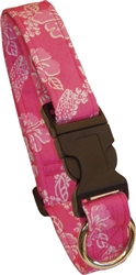 Laguna Pink  Beach Dog Collars and Leashes