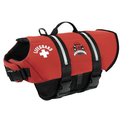 Paws Aboard Dog Life Jacket - RED NEOPRENE