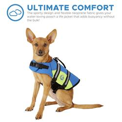Paws Aboard Dog Life Jacket - BLUE/YELLOW NEOPRENE