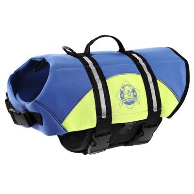 Paws Aboard Dog Life Jacket - BLUE/YELLOW NEOPRENE