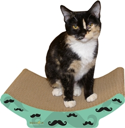Scratch 'n Shapes Mustache Cozy Curl Cat Scratcher