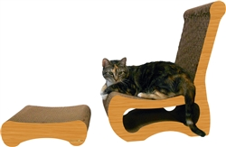 Scratch 'n Shapes Easy Chair & Ottoman Combo