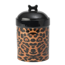 """NEW"" Leopard Buzz Treat Jar"