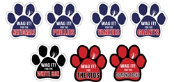 """Wag It! for the... "" Baseball Theme Paw Magnets"