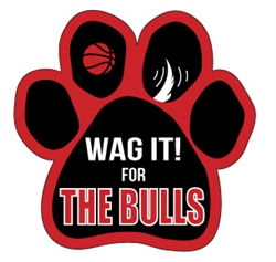 """Wag It! for the... "" Basketball  Theme Paw Magnets"