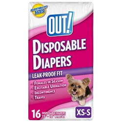 OUT! Fashion Disposable Diapers X-Small to Small 16 Pack - 4-25 lbs
