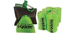 Earth Friendly Pick-Up Bags with Park Pouch Holder-18 Pack with Retail Display