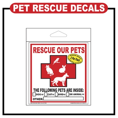 Pet Rescue Decal - Style 1