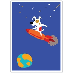Rocket Flying - Rocket Launch Greeting Cards