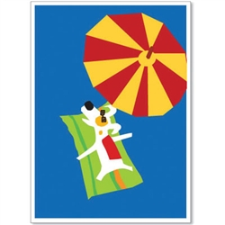 Under Parasol - Rocket Launch Greeting Cards
