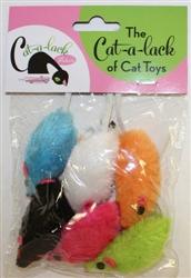 "2 1/2 "" Mice - Asst Colors 6 pc Pack"