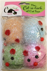 Tinsel Mice w/ bell 4 pc Pack