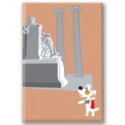 DC, Lincoln Memorial - Fridge Magnet