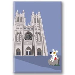 DC, National Cathedral - Fridge Magnet