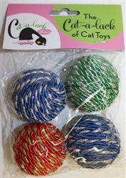Shiny Rope Balls 4 pc Pack