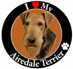 Circle Shaped Car Magnets - Dog Breeds