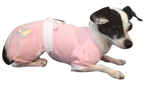 Baby Snuggle Suit in Pink by Ruff Ruff Couture®