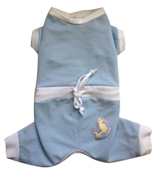 Baby Snuggle Suit in Blue by Ruff Ruff Couture®